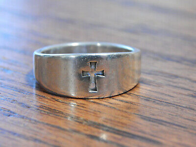 James Avery Sterling Silver Open Work Cut Out Cross Ring Sz 8
