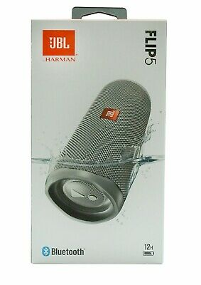 JBL Flip 5 Waterproof Portable Rechargeable Bluetooth Speaker- Grey *FLIP5GRY