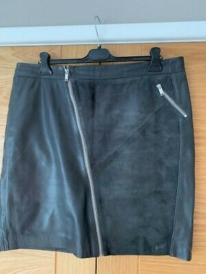 quality design best shoes top quality MINT VELVET GREY Leather & Suede Skirt - £8.10   PicClick UK