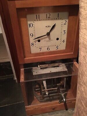 Antique Vintage Oak Cased BLICK NATIONAL Clocking in Machine TimeRecorder