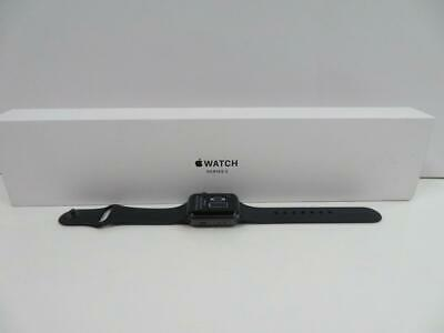 Apple Watch Series 3 (A1858) 38Mm Space Gray Ios Smart Watch Black Sports Band