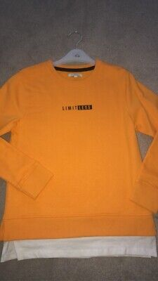 Boys Blue Zoo Yellow Debenhams Sweater Age 8-9 Years Brand New