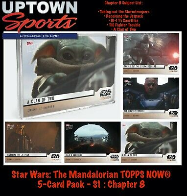 🚀Star Wars: The Mandalorian TOPPS NOW® 5-Card Pack - S1 : Chapter 8