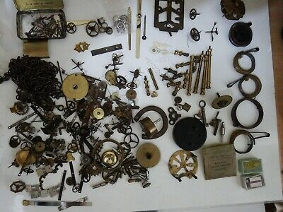 Vintage Clock Parts Big  Lot Some New