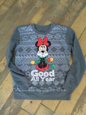 Girls age 10/12 years Disney Minnie mouse Christmas top