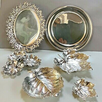Large Buccellati Sterling Silver Beautiful Chestnut Leaf Form Bowl - Mint Cond