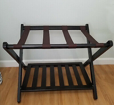 Suitcase Luggage Rack Folding with Shelf from Solid Wood Rack for large Suitcase