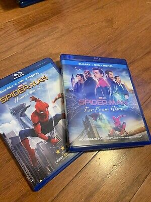 Spider-man: Far From Home Homecoming Blu-ray DVD, 2019 No Digital Lot Marvel MCU