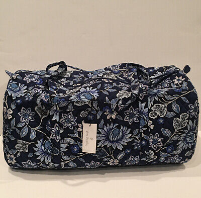 NEW Vera Bradley Large Traveler Duffel Bag Tropics Tapestry Pattern Foldable