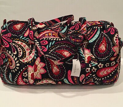 NEW Vera Bradley Large Traveler Duffel Bag Painted Paisley Pattern Foldable