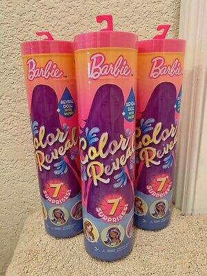 *IN HAND 2019 Barbie Color Reveal Surprise Doll [Styles May Vary] LOT OF 3!!