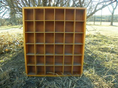 Vintage Wooden Wood Printer Style Box Curio Taxidermy Natural Display Hangers