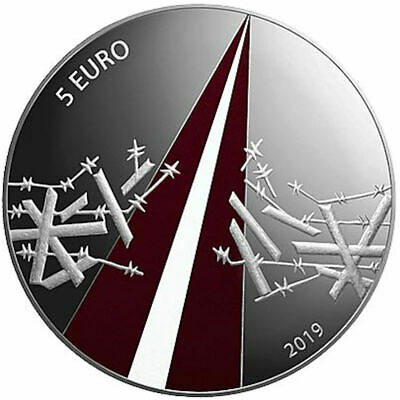 2019 Latvia € 5 Euro Colored Silver Proof Coin Freedom Fights (1918-1920)