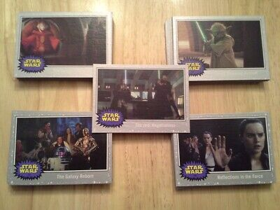 Topps Star Wars Journey to The Rise of Skywalker Silver parallel singles