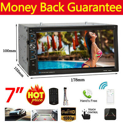 "7"" Double 2Din Car Stereo DVD CD MP5 Player HD In Dash BT TV Radio Bluetooth USB"