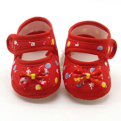 Newborn Infant Baby Girl Casual Flats Soft Sole Prewalker Cotton Warm Shoes HOT