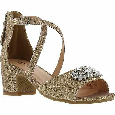 Badgley Mischka Kids' Pernia Gems Pump, Gold, Size 1.0 MU0i