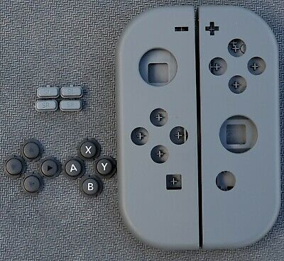 Genuine Nintendo Switch Gray/Grey Joy Con Shells! Left and Right + Buttons!
