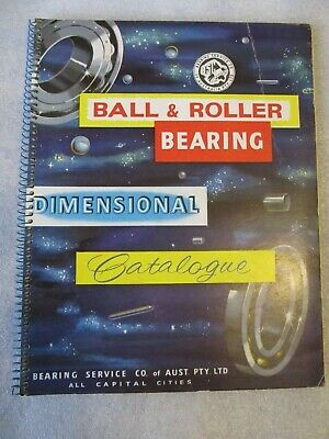 1957 Catalogue Ball & Roller Bearing by Bearing Service Co of Aust P/L