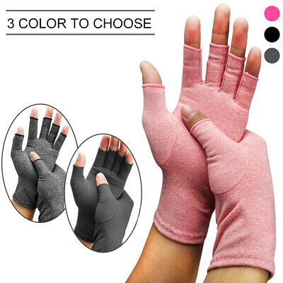 Washable Medical Anti Arthritis Fingerless Gloves Joint Pain Relief S/M/L