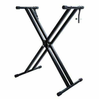 Folding Double Braced X Style Music Piano Keyboard Stand Adjustable Height AU