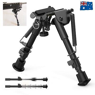 """Adjustable 6""""-9"""" Height Sniper Hunting Rifle Bipod Sling Swivel Mount Stand AU"""