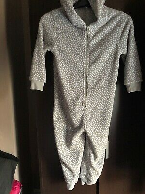 Girls Next Grey & White Spotted All In One - Aged 5 Years - Good Condition