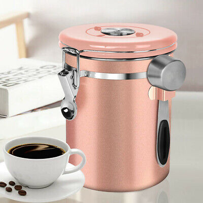 Stainless Steel Airtight Coffee Canister Coffee Bean Container Storage