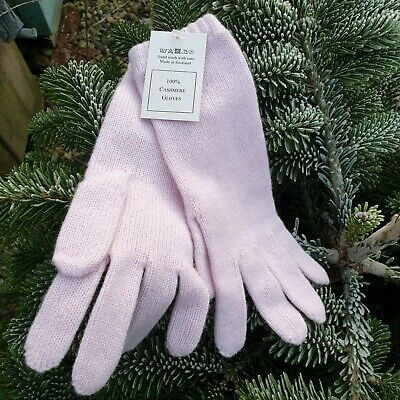 Bright Pink Gloves Ladies Faux Suede Very Soft Grey Faux Fur Trim Touch Screen