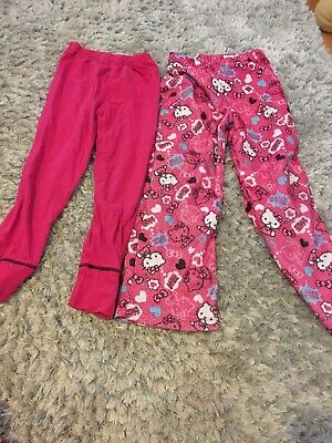 2 X Pyjama Bottoms Size 7 - 9 Years