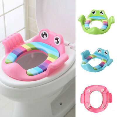 Baby Child Potty Toilet Trainer Seat Step Stool Ladder Adjustable Training Chair