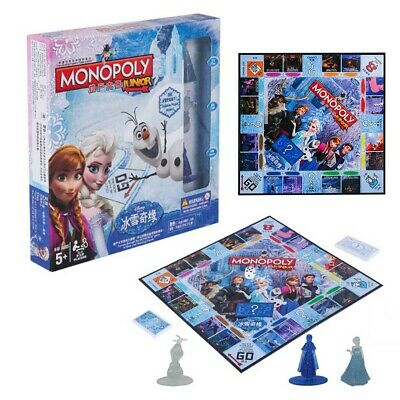 Monopoly Frozen II Board Game Christmas Gift Party Family Games