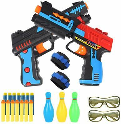 Foam Hand Gun Pistol For Boys 3 Target 34 Soft Bullets Compatible With Nerf