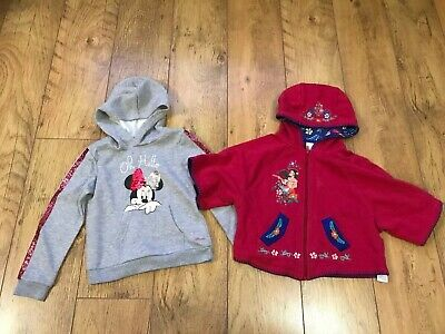 Girls Disney Bundle Winter Hoodie & Poncho Minnie Mouse Elena Of Avalor 5-6 6-7