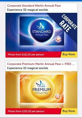 Merlin Annual Pass Huge DIscount! From £111.20 or Premium from £151.20