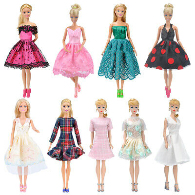 9x Fashion Clothes Casual Wear Party Gown Outfit Random Dresses For Barbie Doll