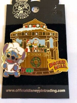 Disney Pin Ginger Bread Boardwalk 2009 Stitch & Donnald