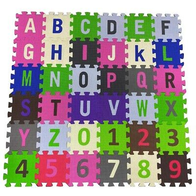 ABC 123 Baby Kids Mat Exercise Yoga Playmat Soft Foam Alphabet Floor Mats 36Pc