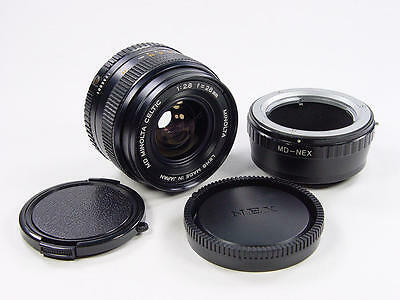Exc++ ! MD Minolta Celtic 2.8 28mm Made in Japan. For Sony NEX E-mount.