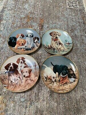 4 Franklin Mint Limited Edition Dogs DISPLAY PLATE