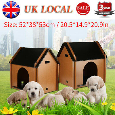 Waterproof Wood Wooden Large Dog House Kennel Cabin Pet Puppy Cage Outdoor