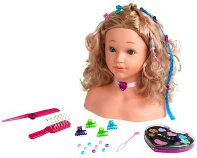 Princess Coralie Make Up and Hair Styling Head Toy Play Set Girls Doll Fun Gift