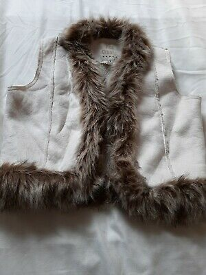 Girls Faux Fur Lined Gilet Age 13