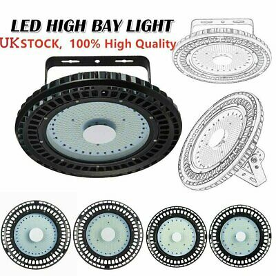 UFO LED High Bay Light 100W/150W/200W Commercial Warehouse Industrial Lamp COOL