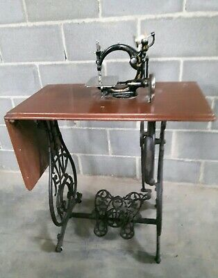 Antigua maquina de coser RARE Willcox & Gibbs + LEGS antique sewing machine 1910