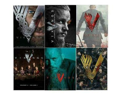 Vikings: Complete Series Seasons 1-5 (Season 5 is Vol. 1 only) DVD Free Shipping