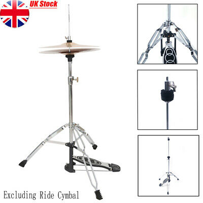 Pro Beginner Adjustable Height Drum High Hat Cymbal Boom Stand Holder With Pedal