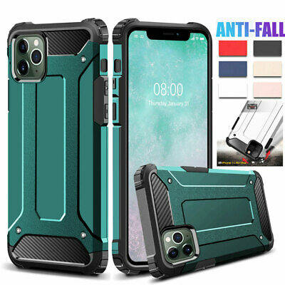 For iPhone 11 Pro XS Max/XR X 7 8 Plus Hybrid Rubber Case Shockproof Armor Cover