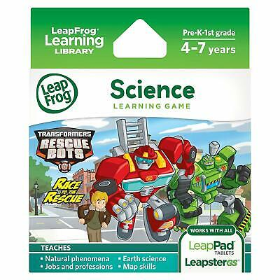 LeapFrog LeapPad/Leapster Science Learning Game TRANSFORMERS RACE TO THE RESCUE