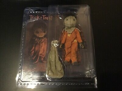 New NECA TOYS Trick R Treat Sam Clothed Horror  Action Figure In Hand